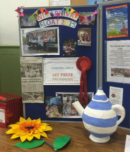 Market Harborough WI float wins first prize at town carnival 2015