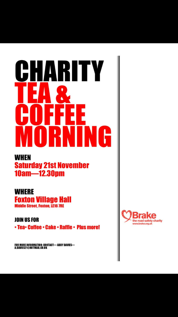 coffee morning 21 Nov foxton