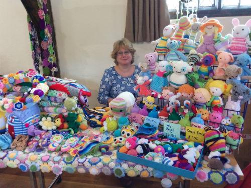 Carmen's colourful crochet stall