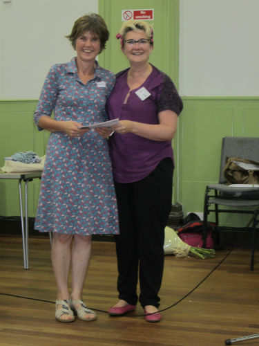 Denman voucher raffle prize winners, Rachel Dodds and Clare Farqhuar