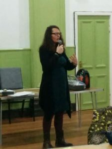 Helen Rowe speaking about Laughter Yoga and Mindfulness