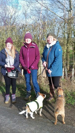 2019-01-27 lubenham walk - 3 walkers and dogs