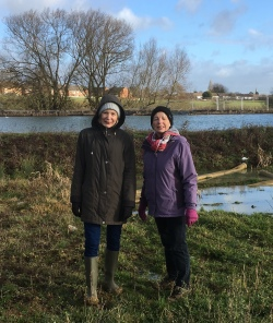 2019-01-27 lubenham walk - tricia and ann